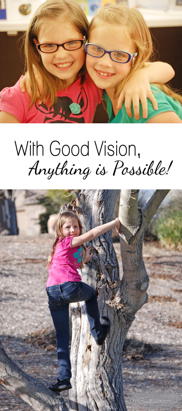 Help kids get the most out of life with the gift of good vision! (Find out how you can give the gift of good vision to children in need with #EyeGiveBack and VSP) OneCreativeMommy.com #ad