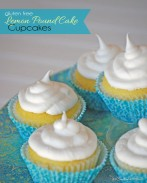 You'll never believe these amazing Lemon Pound Cake Cupcakes are gluten free! An irresistibly moist and delicious dessert recipe! {OneCreativeMommy.com}