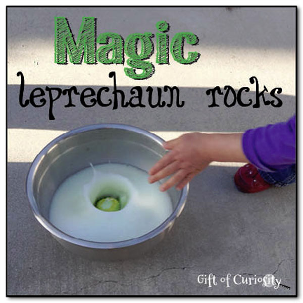 Awesome Magic Leprechaun Rocks from Roundup of 19 Amazing St Patricks Day Crafts for Kids on OneCreativeMommy.com