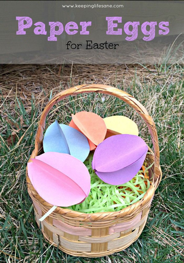 Cute Easter Kids Craft Roundup on OneCreativeMommy.com {Paper Easter Eggs and more}