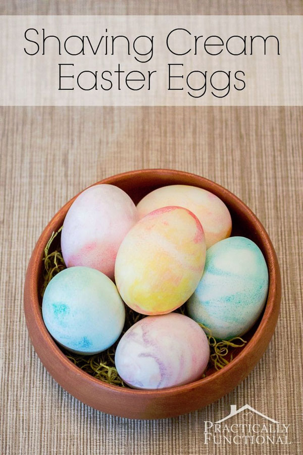 Cute Easter Kids Craft Roundup on OneCreativeMommy.com {Shaving Cream Easter Eggs craft and more}