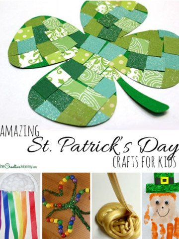 19 Amazing St Patricks Day Crafts for Kids {Shamrocks, and Rainbows, and Leprechauns, Oh, My!} OneCreativeMommy.com