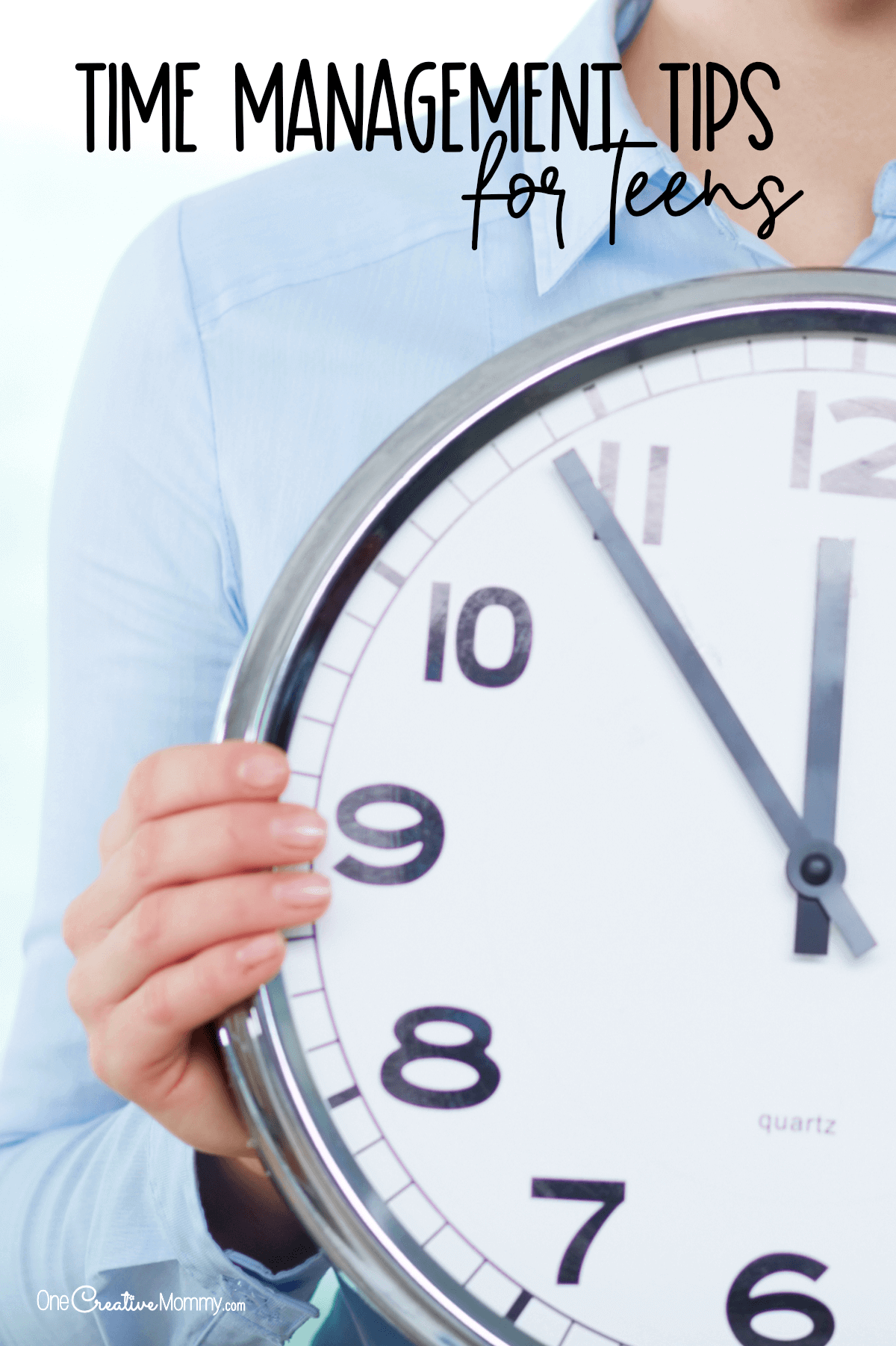 Time Management Tips for Teens and the Parents Who Love Them {OneCreativeMommy.com} #timemanagement #procrastination #tipsforteens #parentingtips