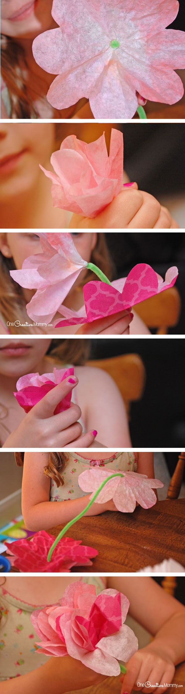 These gorgeous paper flowers are simple and cheap to make.