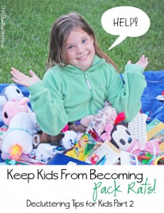 Simple habits to keep kids from becoming pack rats {Part 2 of the Decluttering Tips for Kids series on OneCreativeMommy.com} I need these!