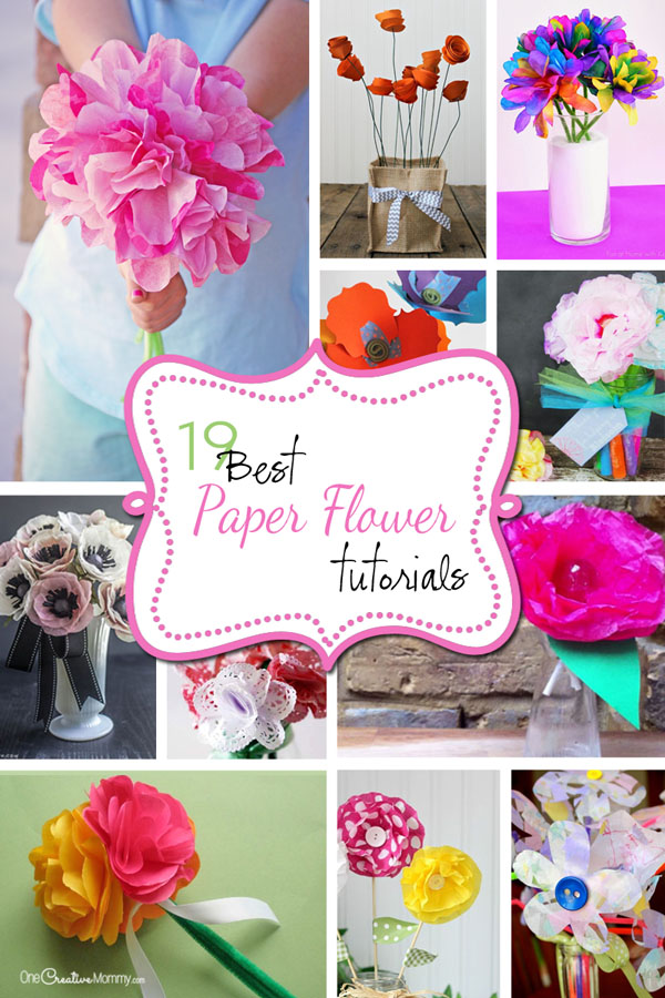 Best paper flowers tutorials for mothers day onecreativemommy wouldnt these paper flowers make a great gift for mom or grandma on mothers mightylinksfo