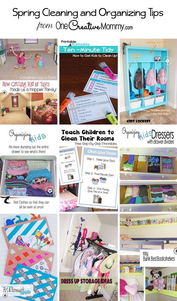 Spring Cleaning and Organizing Tips from OneCreativeMommy.com