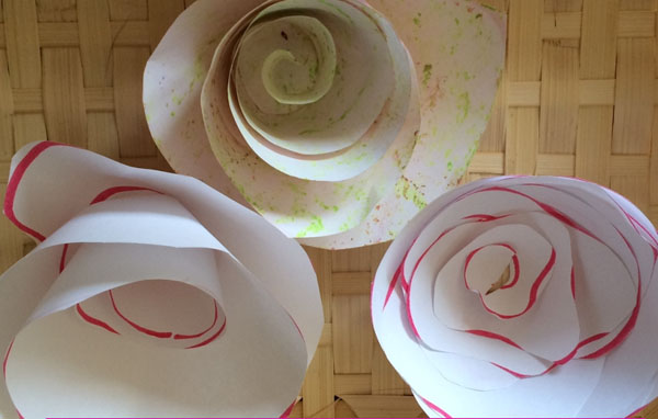 Best paper flowers tutorials for mothers day onecreativemommy paper flower tutorial from mini monets and mommies vibrant coffee filter flowers tutorial from fun at mightylinksfo