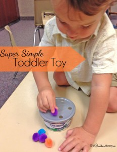 Keep kids busy with this simple to make toddler toy!