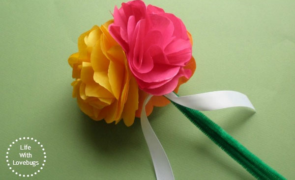 Tissue Paper Flowers From Life With Love Bugs Vibrant Coffee Filter Tutorial Fun At How To Make