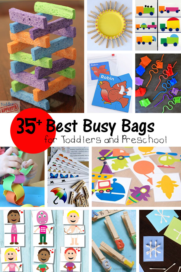 Best Busy Bags for Pre and Toddlers - onecreativemommy.com