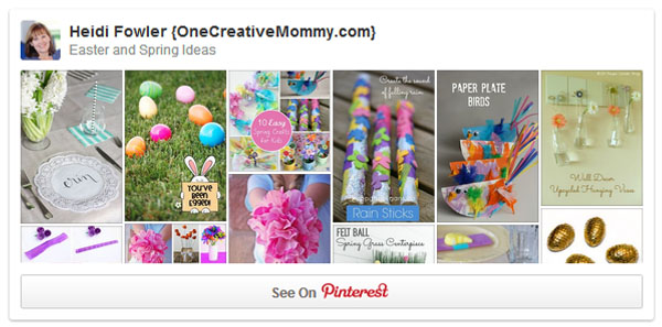 One Creative Mommy Easter and Spring Ideas Board