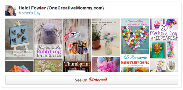One Creative Mommy Mother's Day Pinterest Board