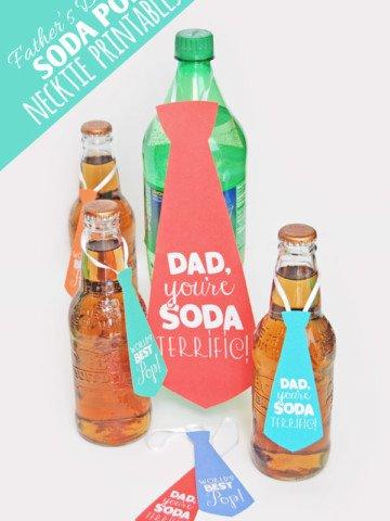 Soda Pop Necktie Father's Day Printables {OneCreativeMommy.com}