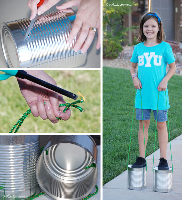 Tin Can Stilts - finishing steps