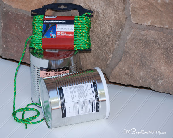 Materials for Tin Can Stilts
