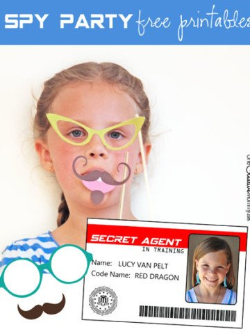 Free printables perfect for your Spy or Secret Agent Birthday Party {OneCreativeMommy.com}