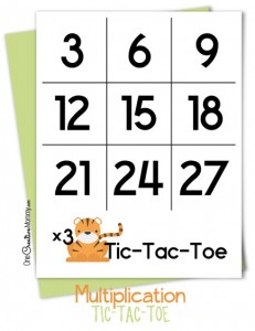 Multiplication Tic Tac Toe {Fun Math Game}