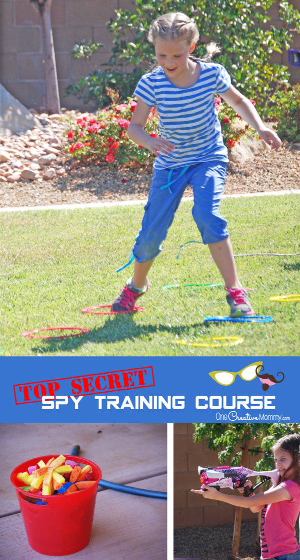 Spy Party Birthday Idea: Top Secret Training Course! {OneCreativeMommy.com} This looks so fun!