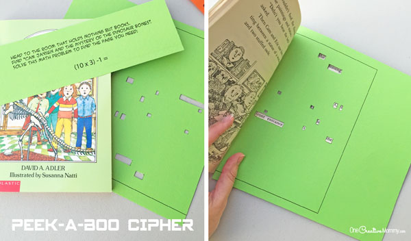 Peek-a-Boo Cipher Spy Birthday Party Mission Clue {OneCreativeMommy.com}