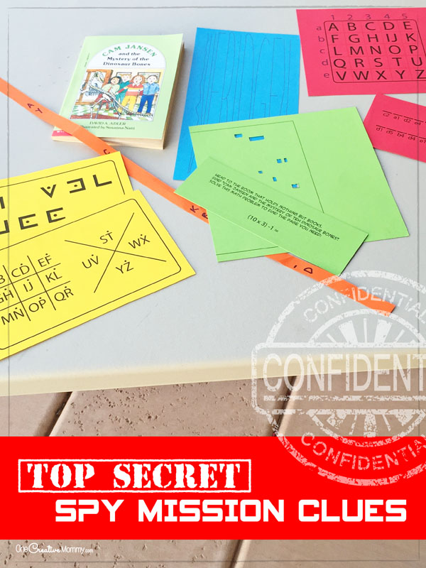 Spy Birthday Party Ideas Spy Mission And Clues Onecreativemommy