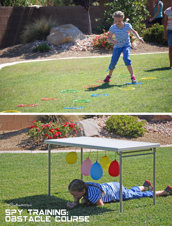 Spy Birthday Party {Obstacle Course Spy Training} OneCreativeMommy.com