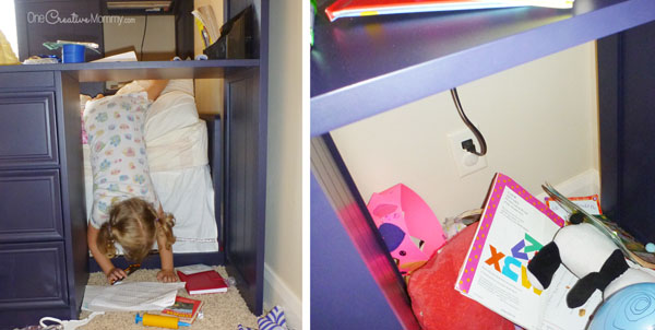 Who Knew That This Annoying Space Could Turn Into Such A Fun Bunk Bed Fort Onecreativemommy Com