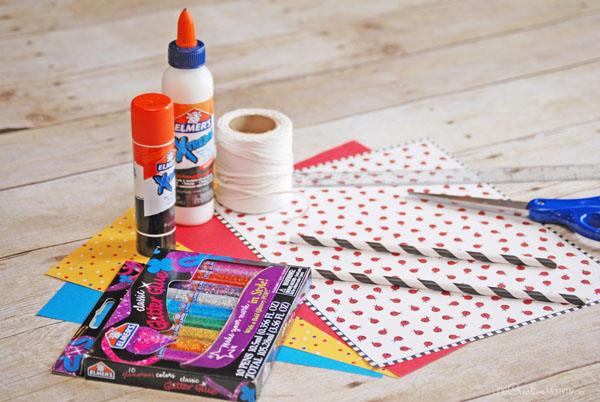 Mini Paper Kites Materials