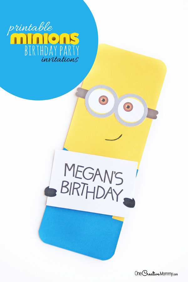 graphic about Minions Printable Invitations titled Adorable Minion Get together Invites