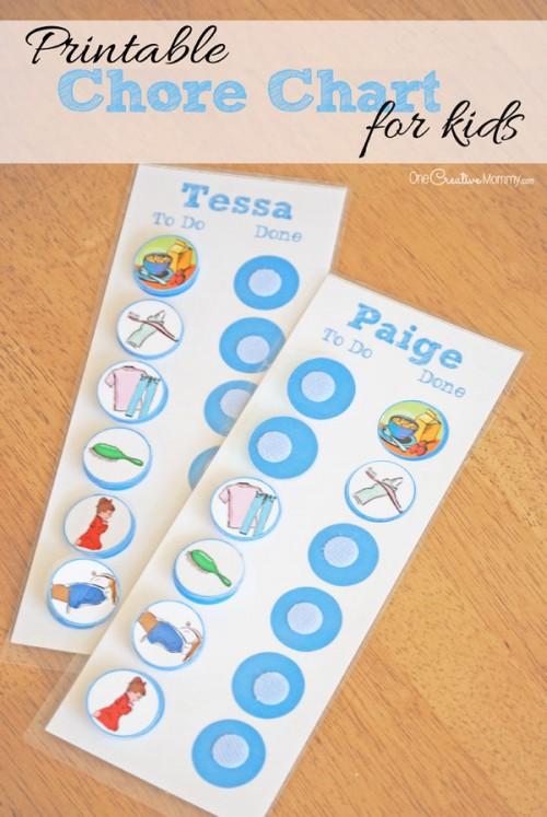 printable chore charts for kids