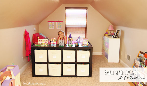 Small Space Living<br> : Small Space Living - One Room, Two Functions - onecreativemommy.com