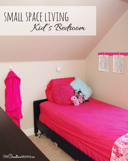 Small Space Living - One Room, Two Functions - onecreativemommy.com
