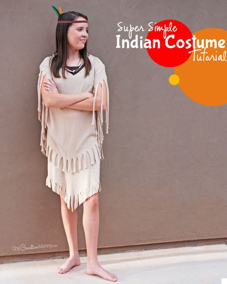 sc 1 st  OneCreativeMommy.com & Easiest Indian Costume Ever!!! - onecreativemommy.com