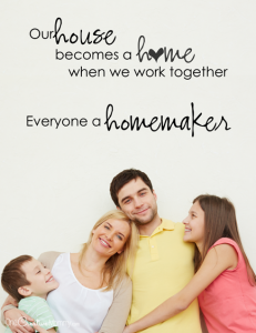 Everyone a Homemaker {Family Night Idea and Printable}