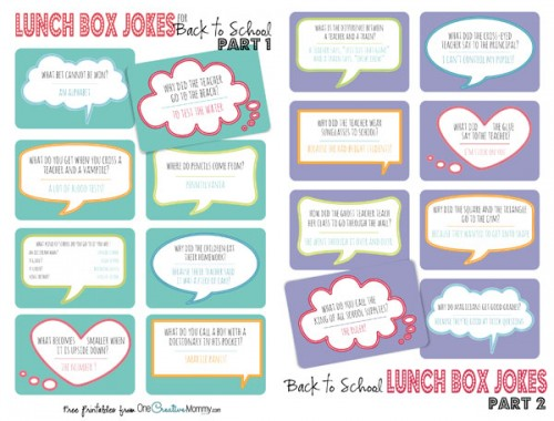 Back To School Lunch Box Jokes Jpg Files For Printing