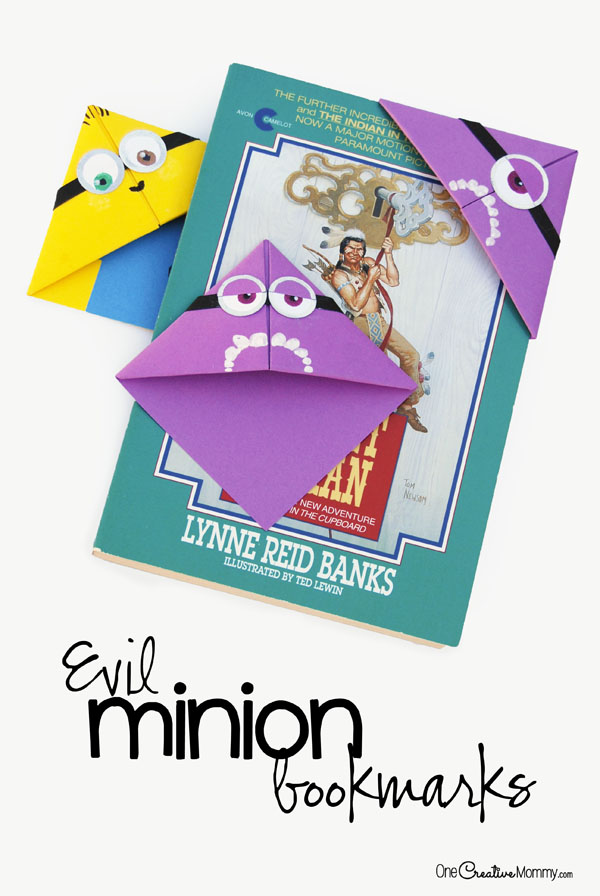 Quick And Easy Minion Bookmark Craft For Kids Onecreativemommy Com