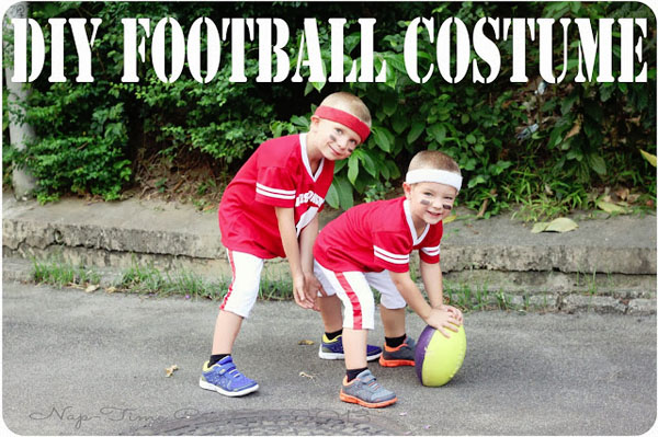 DIY Football Player Costume from Nap-time Creations