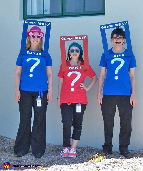 Guess who? Love this simple costume idea for a group {Featured on OneCreativeMommy.com's Couple's and Family Halloween Costume Roundup}