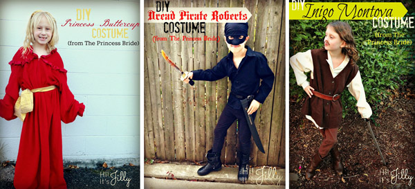 Cool Princess Bride Costume Ideas! {Featured on OneCreativeMommy.com's Couple's and Family Halloween Costume Roundup}