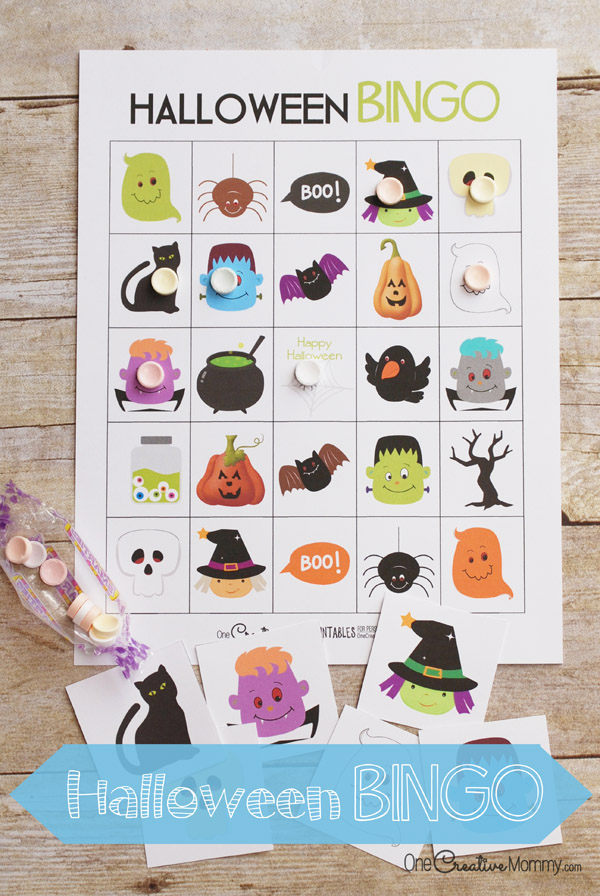 Printable halloween bingo cards onecreativemommy free halloween bingo boards perfect for families room moms and party planners solutioingenieria Images