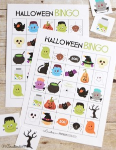 Free Halloween Bingo boards | Perfect for families, room moms and party planners! {OneCreativeMommy.com}