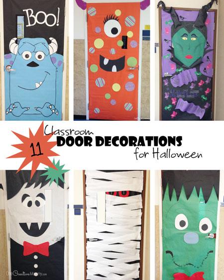 Halloween Classroom Decor Ideas ~ Cool classroom door decorations for halloween