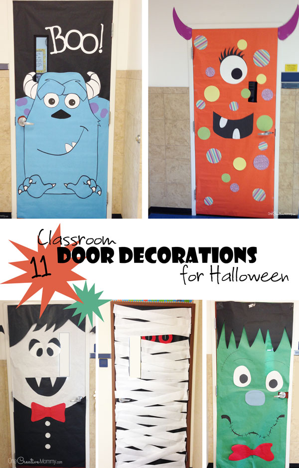 Cool classroom door decorations for halloween - Decoration de porte halloween ...