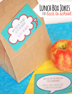 Lunch Box Jokes for Back to School Part 2