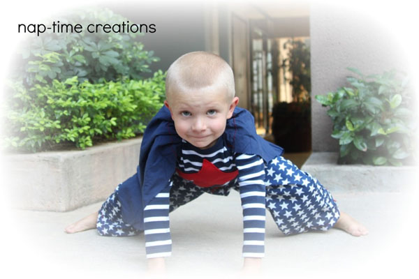 Adorable Superhero Pajamas from Nap-time Creations