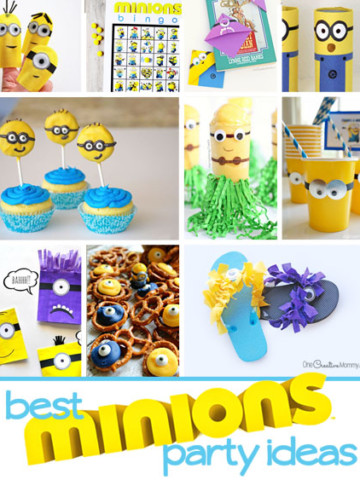 Planning a Minions party? You'll find 23 of the best Minion Party ideas here! So many fun crafts, games and recipes! {OneCreativeMommy.com} Would make a cool birthday party for kids!