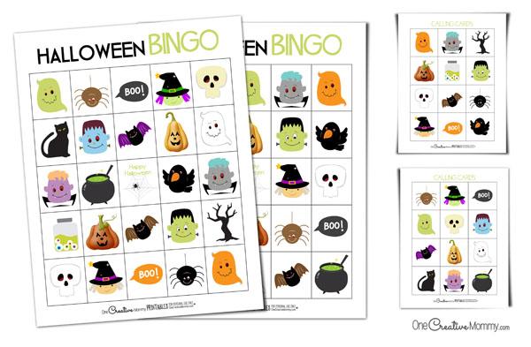 Free Printable Halloween Bingo Cards With Pictures.Printable Halloween Bingo Cards Onecreativemommy Com