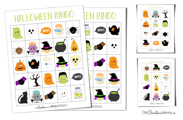 image about Printable Halloween Bingo titled Printable Halloween Bingo Playing cards