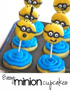 Minion Cupcakes with Oreos