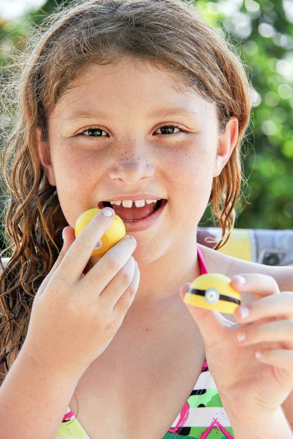 Minions Lip Balm from Tonya Staab | Featured on Minions Party Roundup {OneCreativeMommy.com} So many great ideas!